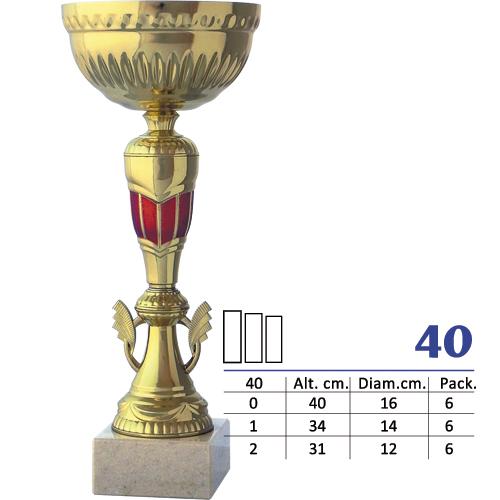 Copa Color Dorado y Rojo Diseño Tradicional Modelo N40