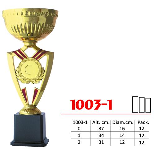 Copa Color Dorado Base Color Negro Diseño Tradicional Modelo Nº1003-1