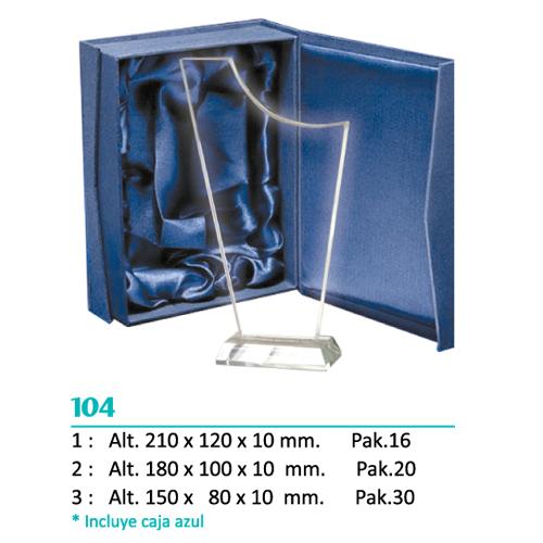 Cristal 104 (Caja azul incluida)