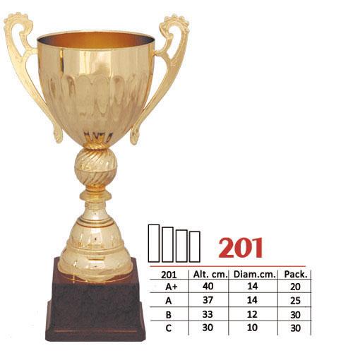 Copa Color Dorado Diseño Tradicional Modelo Nº201