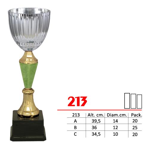 Copa Color Plateado/Dorado/Verde Diseño Tradicional Modelo Nº213