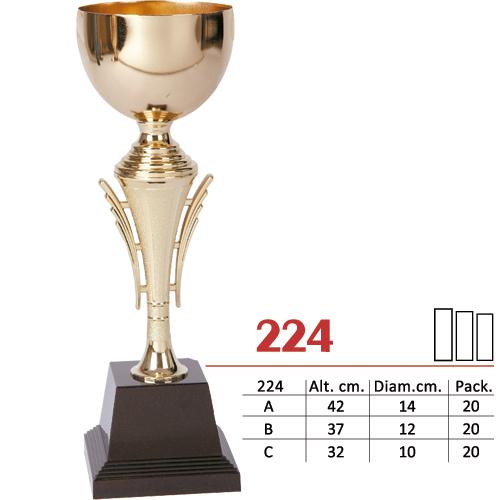 Copa Color Dorado Diseño Tradicional Modelo Nº224