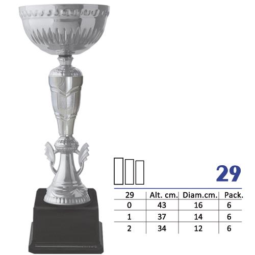 Copa Color Plata Diseño Tradicional Modelo Nº29