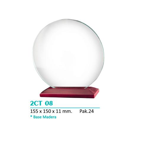 Cristal 2CT 08 Base de madera