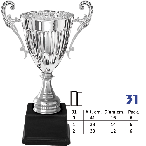 Copa Color Plata Diseño Tradicional Modelo N31