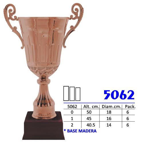 Copa Color Base de madera Diseño Tradicional Modelo Nº 5062