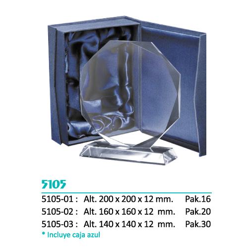 Cristal 5105 forma octágono