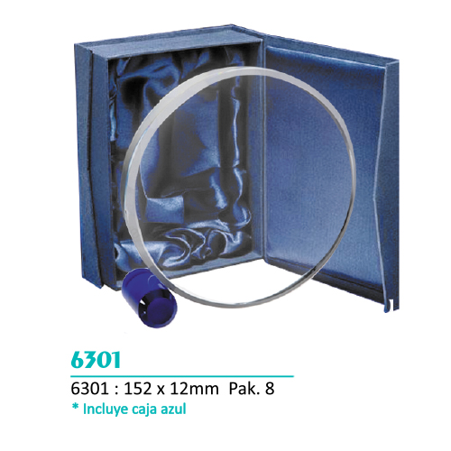 Cristal 6301 forma Circular (Caja Azul incluida)