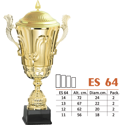 Copa Luxury Color Dorado Diseño Tradicional Modelo ES 64