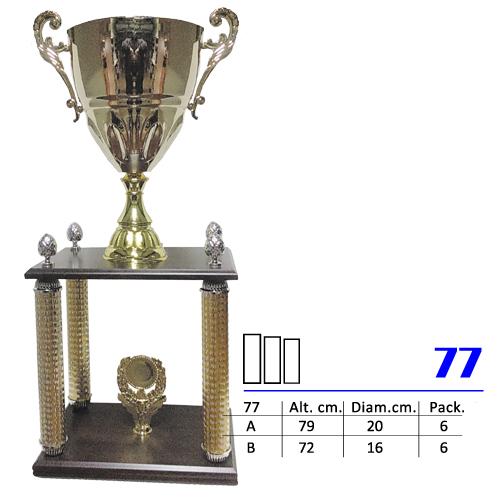 Copa Color Dorado y Rojo Diseño Tradicional Modelo Nº77