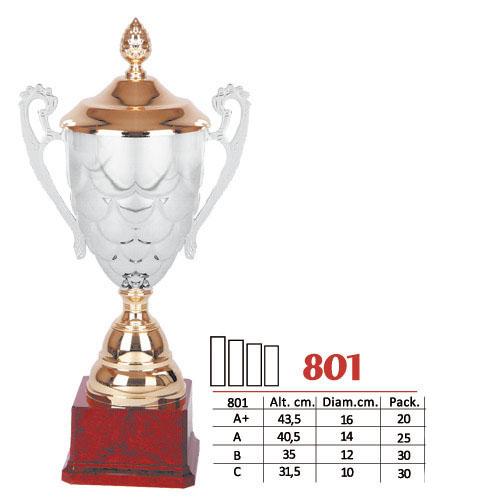 Copa Color Plateado/Dorado Diseño Tradicional Modelo Nº801