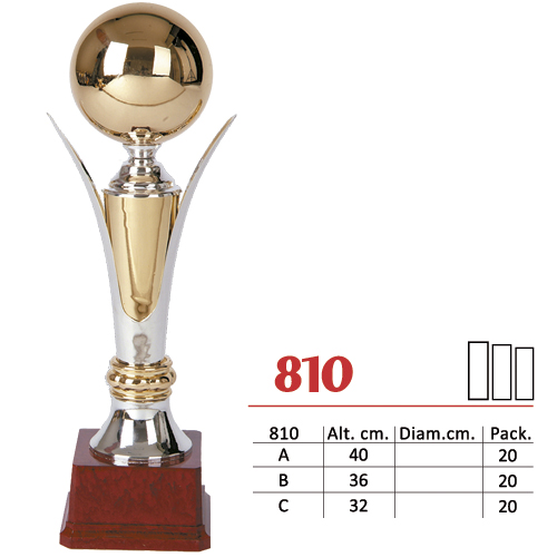 Copa Color Plateado/Dorado Diseño Tradicional Modelo Nº810