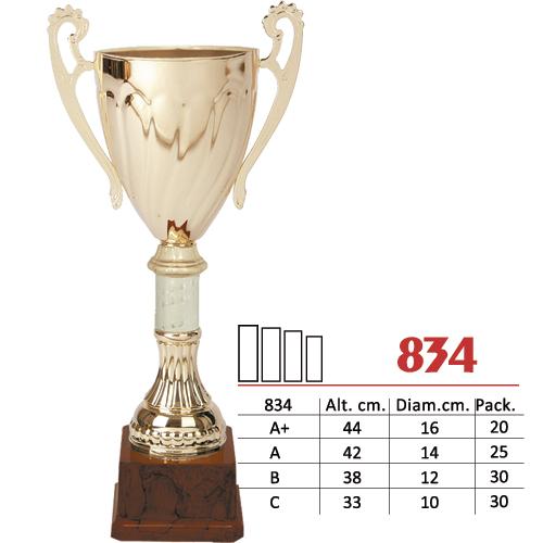 Copa Color Dorado Diseño Tradicional Modelo Nº834