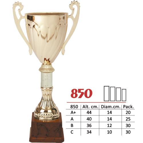 Copa Color Dorado Diseño Tradicional Modelo Nº850
