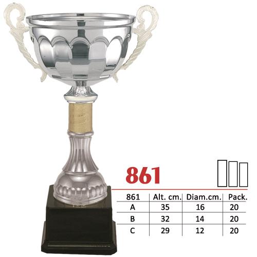 Copa Color Plateado Diseño Tradicional Modelo Nº861