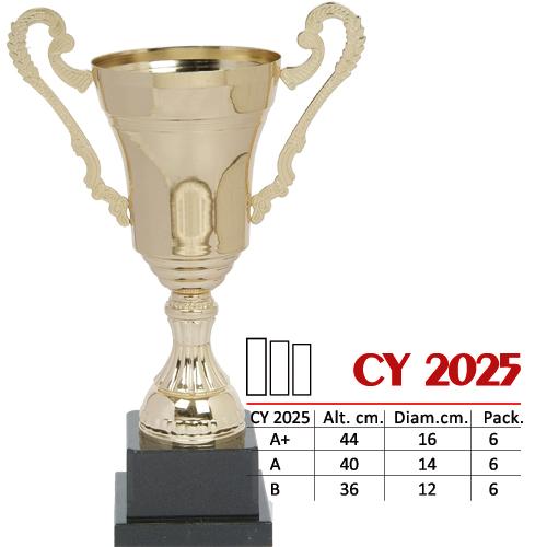 Copa Color Dorado Base de color Negro Diseño Tradicional Modelo CY 2025