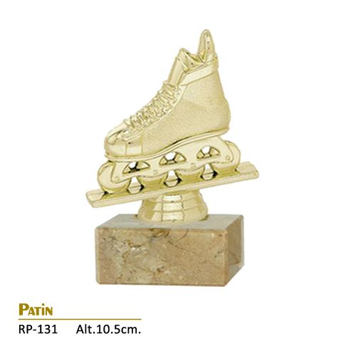 Trofeo Dorado Diseño Patín