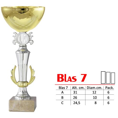 Copa Color Dorado/Plateado Base de color gris Diseño Tradicional Modelo BLAS 7