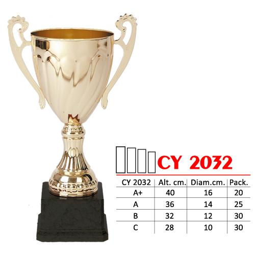 Copa Color Dorado Base de color Negro Diseño Tradicional Modelo CY 2032
