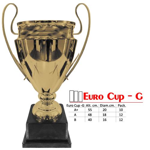 Copa Color Dorado Base de color Negro Diseño EuroCopa Modelo Euro Cup - G