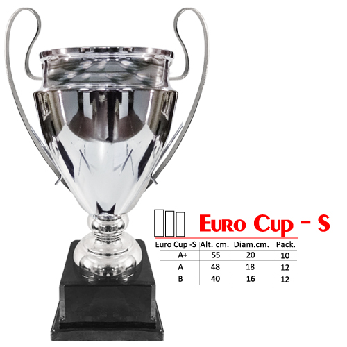 Copa Color Dorado Base de color Negro Diseño EuroCopa Modelo Euro Cup - S