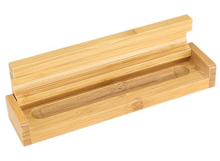 Estuche de Madera de Bamboo para 1 bolígrafo.