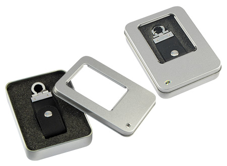 Llavero-Pendrive 4GB Simil Cuero